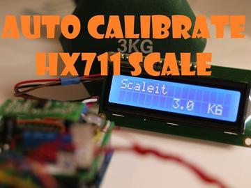 自动校准已知重量的hx711秤