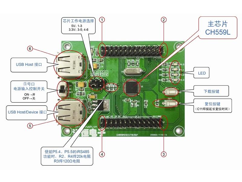 CH559开发板非常全面应用例程等资料分享
