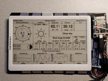 基于电子墨水屏的气象站设计