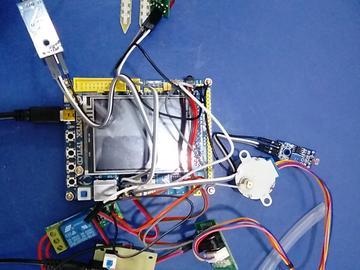 基于STM32单片机的智慧花盆浇花灌溉设计-(电路图+程序源码)