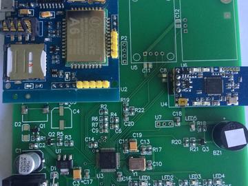 基于STM32的智能家居短信报警系统可检测人体、烟雾、温度