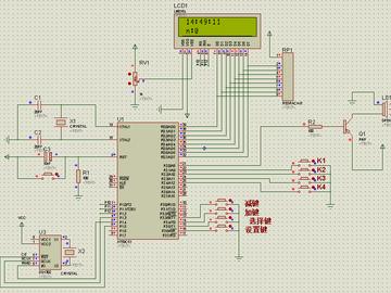 基于单片机DS1302电子时钟-音乐播放器(proteus仿真+源程序+参考报告)