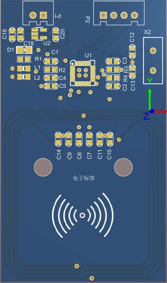 MFRC-522 RC522 RFID射频 IC卡感应模块 PCB工程文件 可直接生产