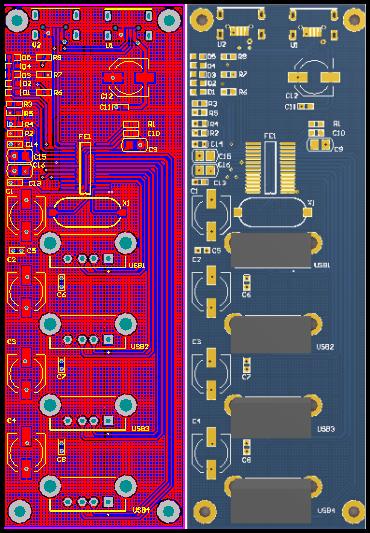 基于FE1.1S的USB HUB一拖四