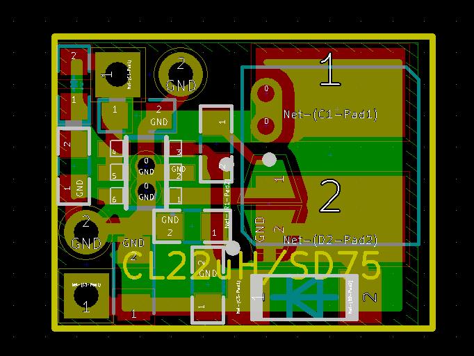 MT3608 DC-DC稳压器电源板电路图及PCB