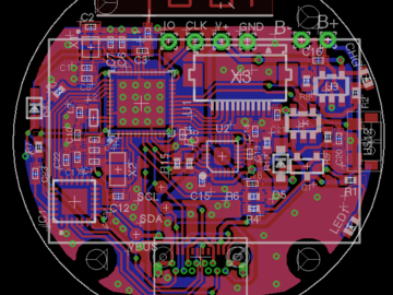 包含一个TM035035触控板和一个9轴IMU传感器MPU9250,基于nRF52832的VR控制器Torrus电路设计