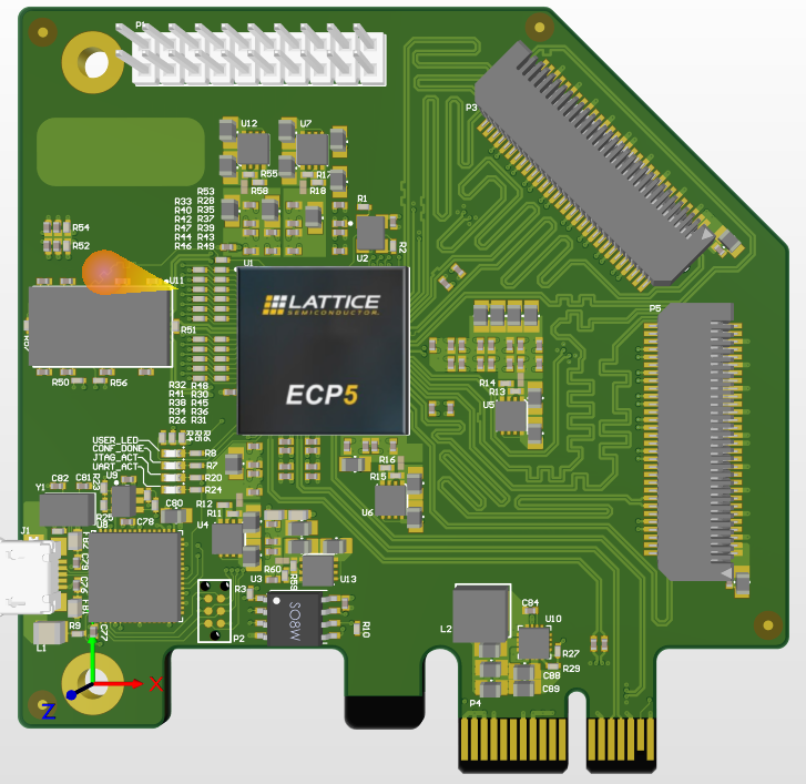 【PCI Express】【DDR3】 基于 Lattice ECP5 FPGA的PCI Express开发板