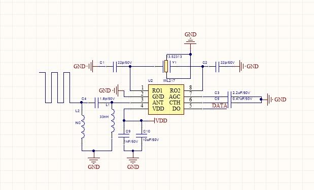 433M無線遙控接收端