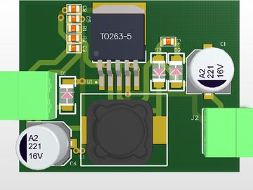 LM2596S-12V负电源原理图PCB