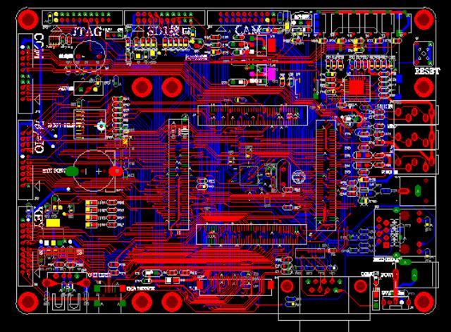 SAMSUNG ARM11 S3C6410底板 PADS設計硬件原理圖+PCB文件