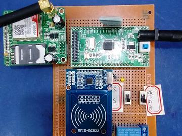 基于STM32单片机的 RFID智能门禁锁设计-RFID-GSM-拨动-蓝牙-(电路图+程序源码)