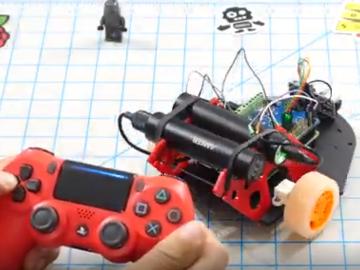 通過PS4??仄骺刂蘋謔鬏?B打造的漫游機器人
