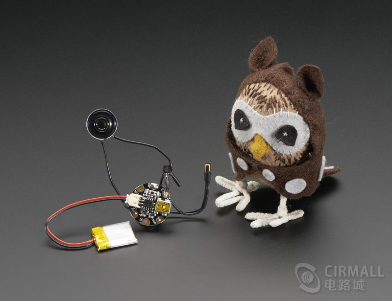 创意DIY,毛茸茸的会说话的猫头鹰玩具