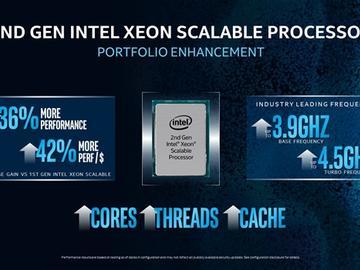 Intel升级二代可扩展至强:性能涨36%、性价比涨42%