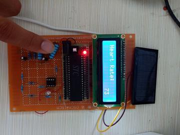 基于单片机的心率计设计(源代码+电路图+实物图)