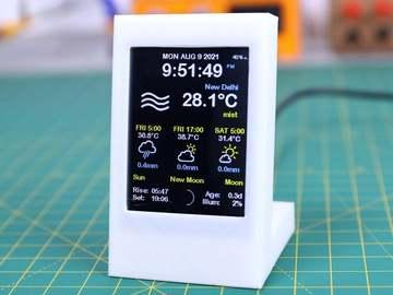 基于ESP8266的天气预报显示器