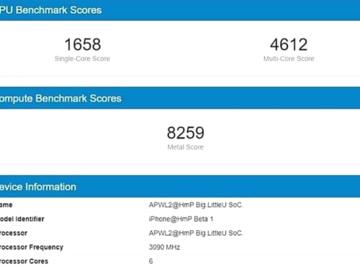 苹果A14处理器跑分曝光 3.1GHz主频,单核1658分