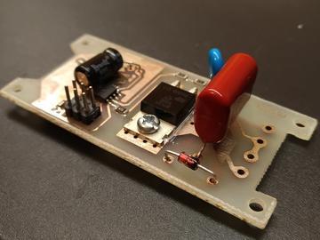 基于ATtiny13的键控简单调光器