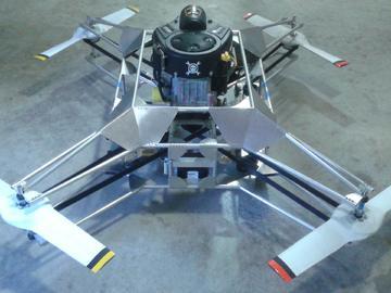 以汽油作为动力的四轴飞行器