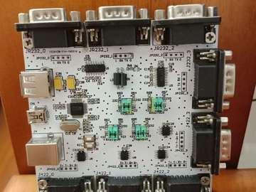 USB转4路232和422电路方案设计(原理图+pcb)