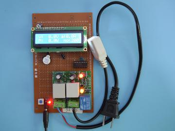 基于51单片机的智能电表插座交流电压流检测阈值报警设计-万用板-原理图+PCB图+程序源码86