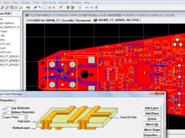 CY7C68013A USB口单片机芯片量产测试板protel硬件电路设计方案(原理图+PCB文件)