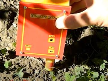 简单的金属探测器,能够探测4-5厘米距离处的小硬币