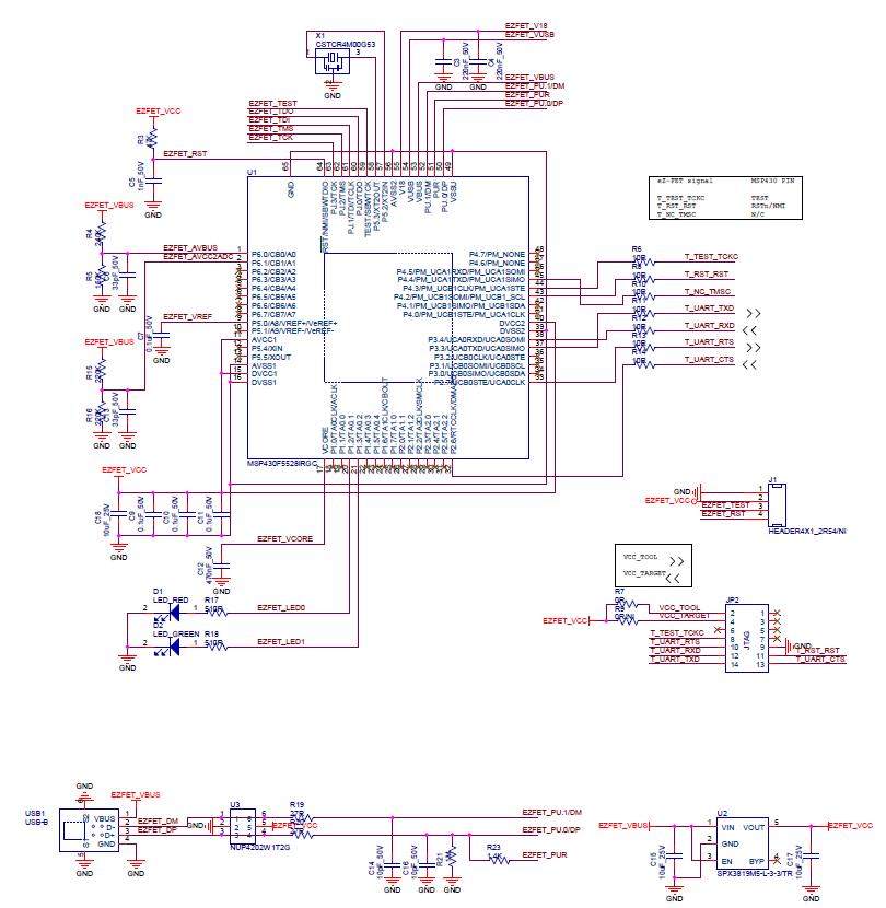 MSP430仿真器 EZFET LITE