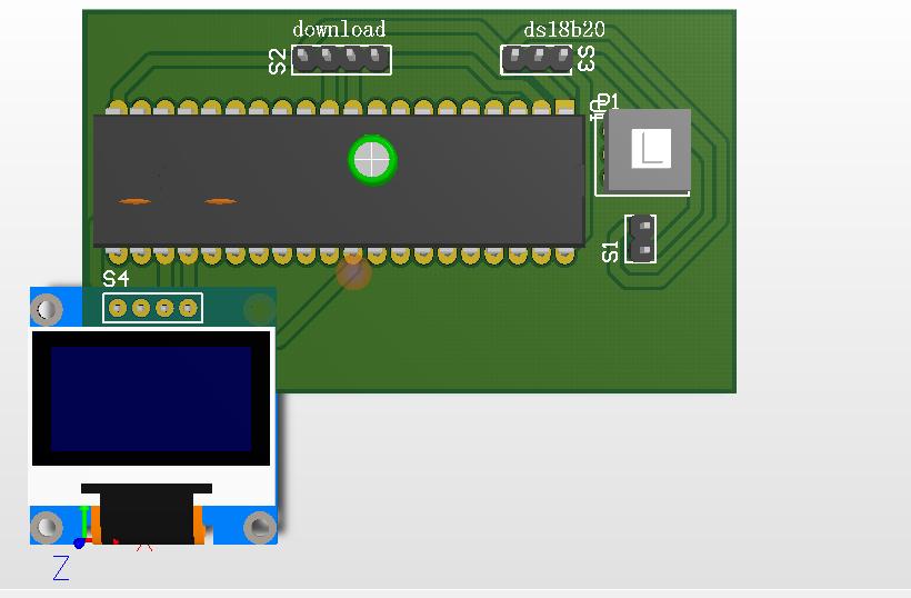 基于STC51单片机的DS18B20温度传感器在OLED液晶?#26009;?#31034;设计