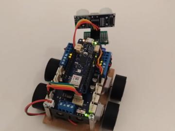 迷你4WD Arduino机器人,由蓝牙控制