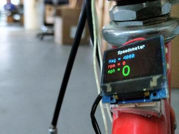 使用霍尔传感器和磁铁的Arduino速度计