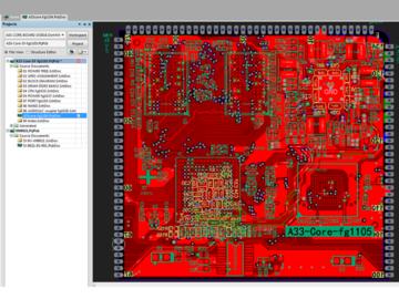 全志A33四层核心板电路方案(原理图+pcb)