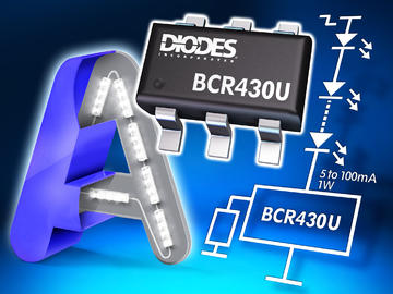 Diodes发布超低压降线性LED驱动器BCR430UW6