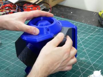 构建DMX控制的动画机器人头,LED显示
