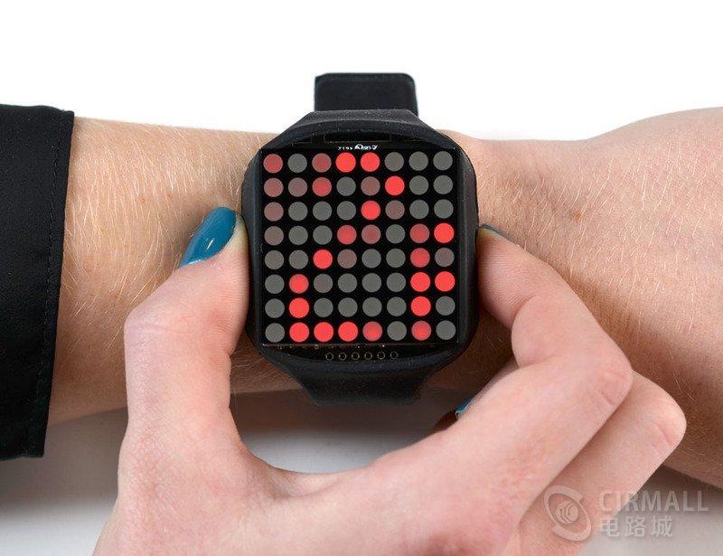【国外开源】DIY LED硅胶手表,8x8位矩阵显示