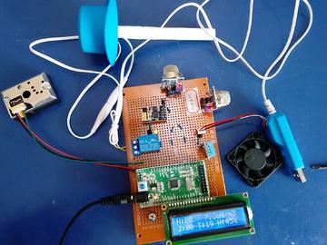 基于STM32单片机的家庭环境监测系统-DHT11-MQ2-PM2.5-(电路图+程序源码)