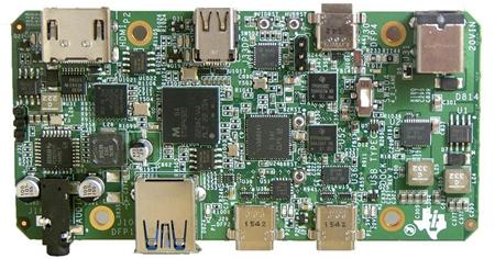 該模塊可提供完整的 USB Type-C 底座參考解決方案