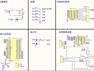 51单片机太阳能双轴自动追光系统(原理图+仿真+PCB+程序)