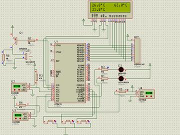 基于单片机3路温度控制系统(proteus仿真+源程序)