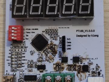 基于stm32的PT100温度采集模块(PCB+源码+原理图)