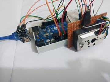 基于GP2Y1014AU0F和Blynk的粉尘监测器