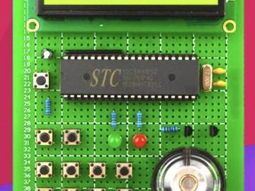 基于51单片机电子琴-音乐播放器-1602液晶显示(proteus仿真+源程序+原理图+全套资料)
