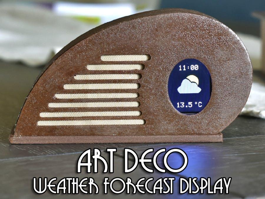 獨一無二的裝飾藝術天氣預報顯示氣象站