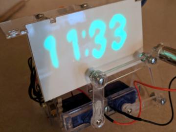 神创意!基于Arduino开发板以及电机diy的一个绘制时间的激光时钟
