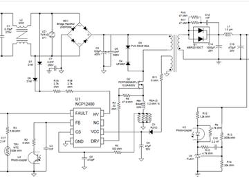 基于ON NCP12400的65W高效小型化AC-DC适配器方案