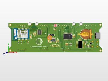 基于DS3231和ESP8266的1.2英寸数码管时钟(硬件开源)