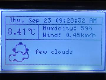 基于LCD 的在线天气显示模块
