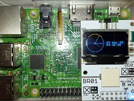 帶XinaBox OD01和Raspberry Pi的時鐘顯示