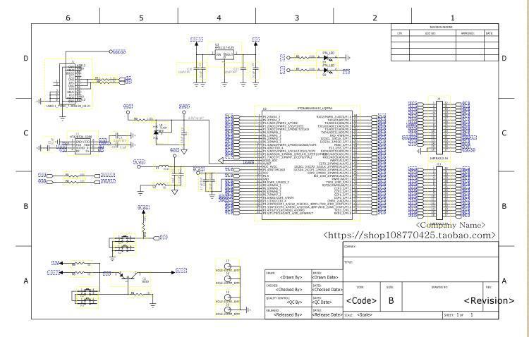 STC8A核心板的电路方案设计(pcb)