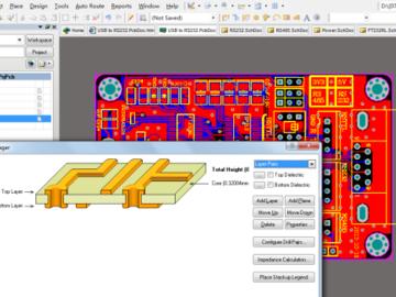 USB转串口板 FT232RL USB转UART-RS232-RS485AD版硬件原理图+PCB文件